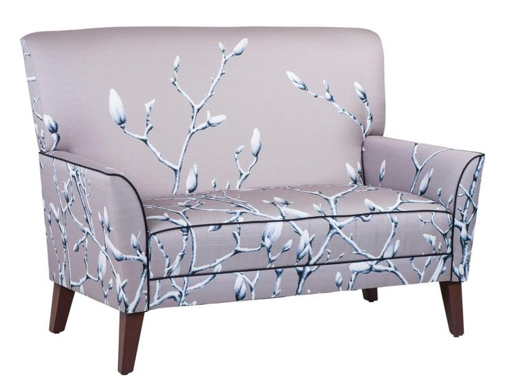 Tempo two seater lounge in Twigs Stone #materialisedfabrics #fabricsfortherealworld #performancefabrics