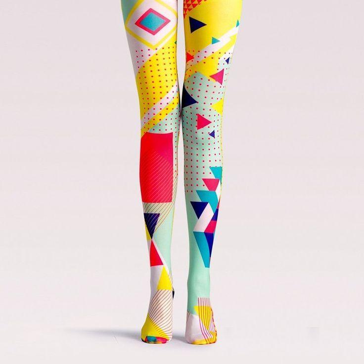 Viken plan designer brand pantyhose cotton socks creative stockings pattern stockings pop distortion – vikenplan – Socks