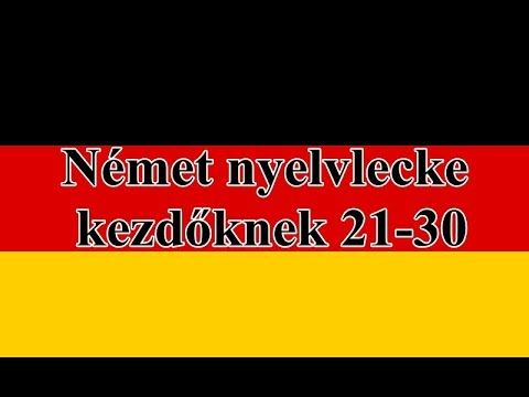 Német nyelvlecke kezdőknek  21-30