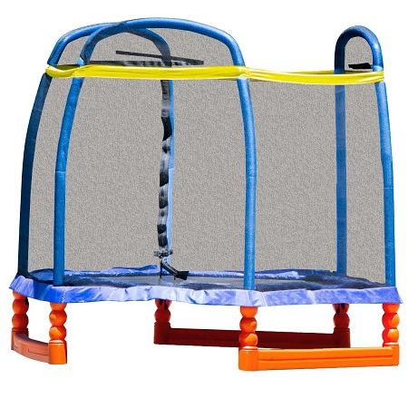 Playing with trampoline is a great activity for kids. Buy Skybound 7ft Kids Mini #Trampoline with Enclosure designed in bright color for you kids.
