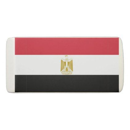 Patriotic Wedge Eraser with flag of Egypt - diy cyo customize create your own #personalize