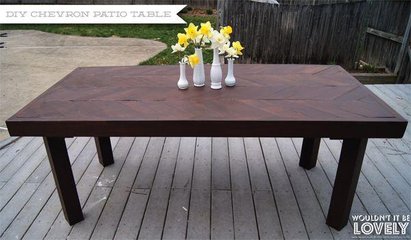 diy chevron patio table up cycling diy outdoor table diy table rh pinterest com