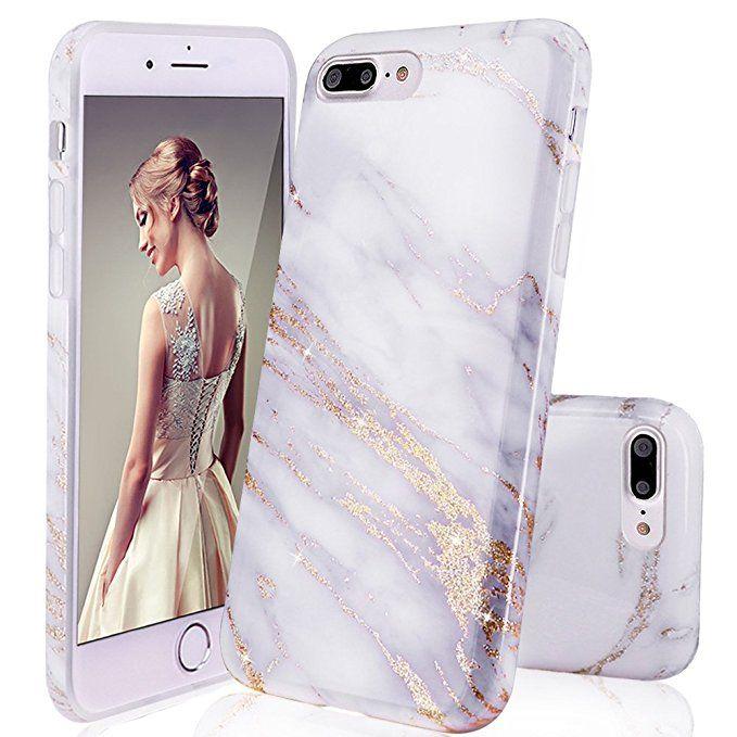 iPhone 7 Plus Case,iPhone 8 Plus Case,DOUJIAZ Shiny Marble Design ...