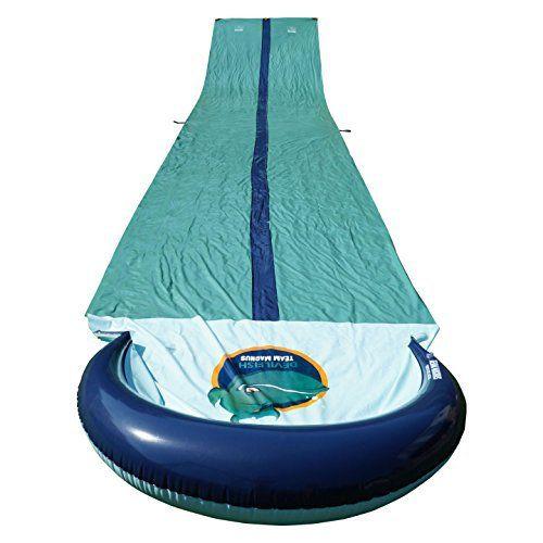 Team Magnus tapis de glisse à eau gonflable double piste toboggan piscine XXL (950 cm x 160 cm): Fun, Fun , Fun! ce tapis de glisse géant…