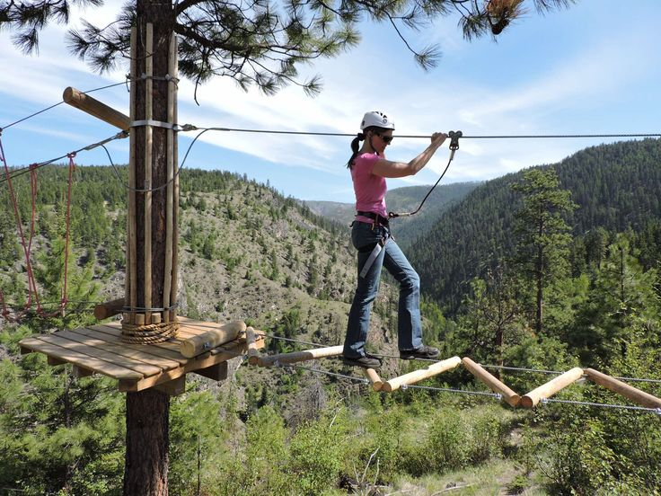 Ropes and Challenge Course for Adults at Myra Canyon Adventure Park