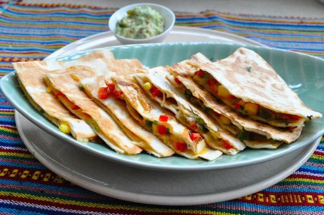 Quick and tasty lunch……Quesadilla with Guacamole