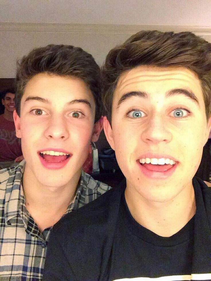 Shawn Mendes and Nash Grier ~so proud of shawn life of the party came on the radio today