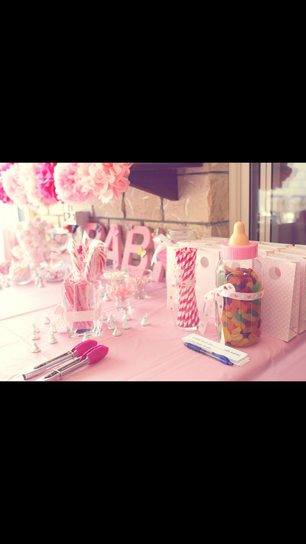 Girls baby shower pink