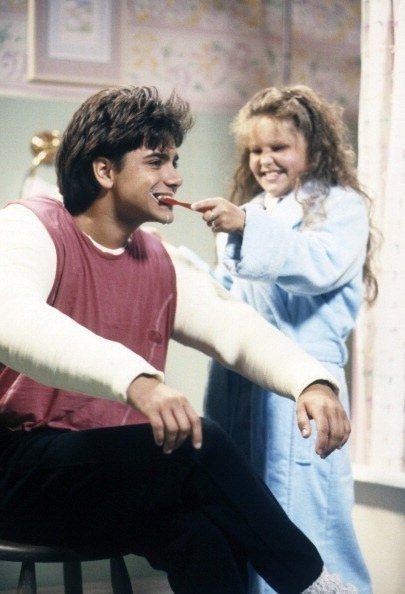 """Or when he couldn't brush his teeth because of having two broken arms: 