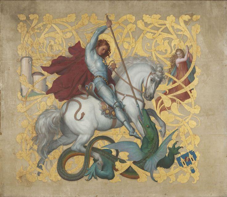 Josef Mánes (1820–1871) - Prapor Jednoty Říp v Roudnici nad Labem. 1864. Národní galerie v Praze