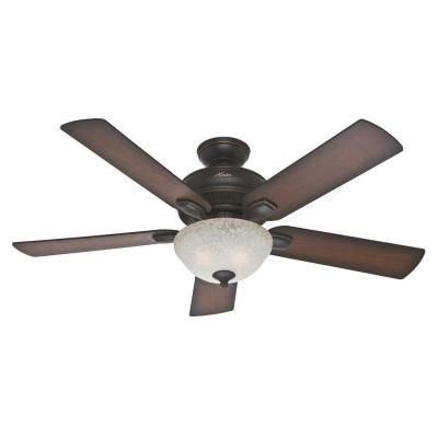 Master Bedroom Hunter Matheston 52 in. Onyx Bengal Ceiling Fan-54092 - The Home Depot