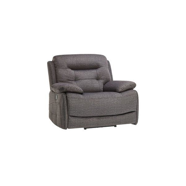 Grey Fabric Sofas Electric Recliner Armchair Dallas Range Oak Furnitureland Reclining Armchair Electric Recliners