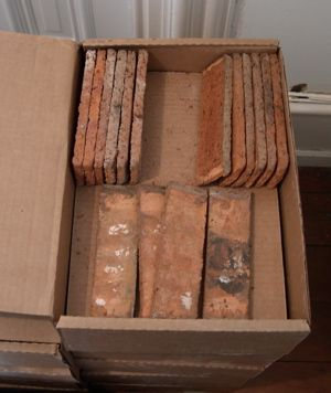 thin brick for a quick diy brick wall