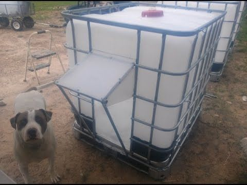 IBC Tote Shelters For Alpine Goats