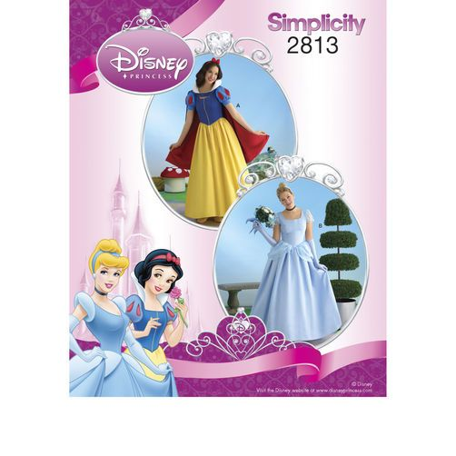 Simplicity Pattern 2813 Disney Princess Costumes for Misses