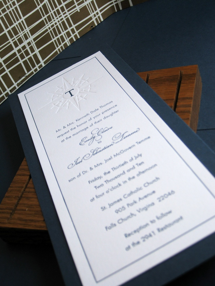 addressing wedding invitations married woman doctor%0A Nautical Letterpress Wedding Invites by ruffhouseart on Etsy