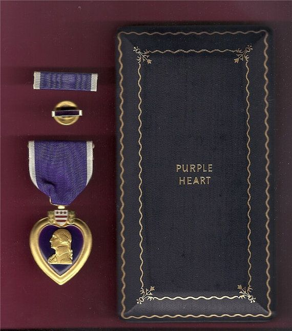 Vintage WWII Purple Heart Medal with Case