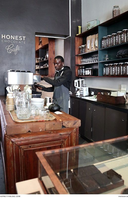 Honest Chocolate cafe with beautiful black walls, dark wood and rustic elements! https://www.theprettyblog.com/food/honestly-decadent-escape-at-honest-chocolate-cafe/?utm_campaign=coschedule&utm_source=pinterest&utm_medium=The%20Pretty%20Blog&utm_content=Honestly%2C%20Decadent%20Escape%20at%20Honest%20Chocolate%20Caf%C3%A9