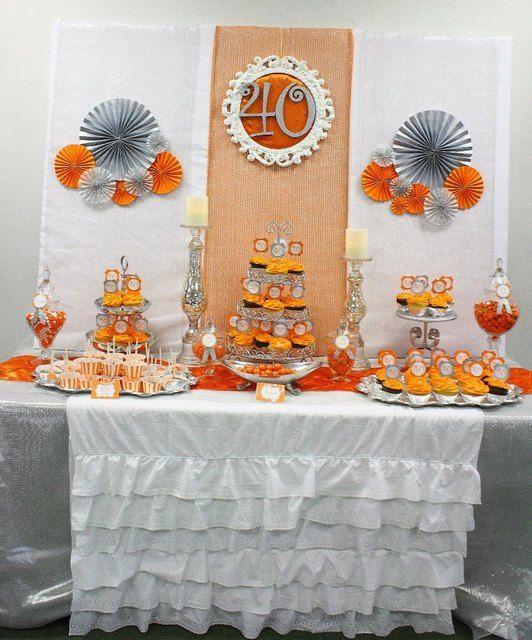 Fall autumn birthday party ideas silver anniversary