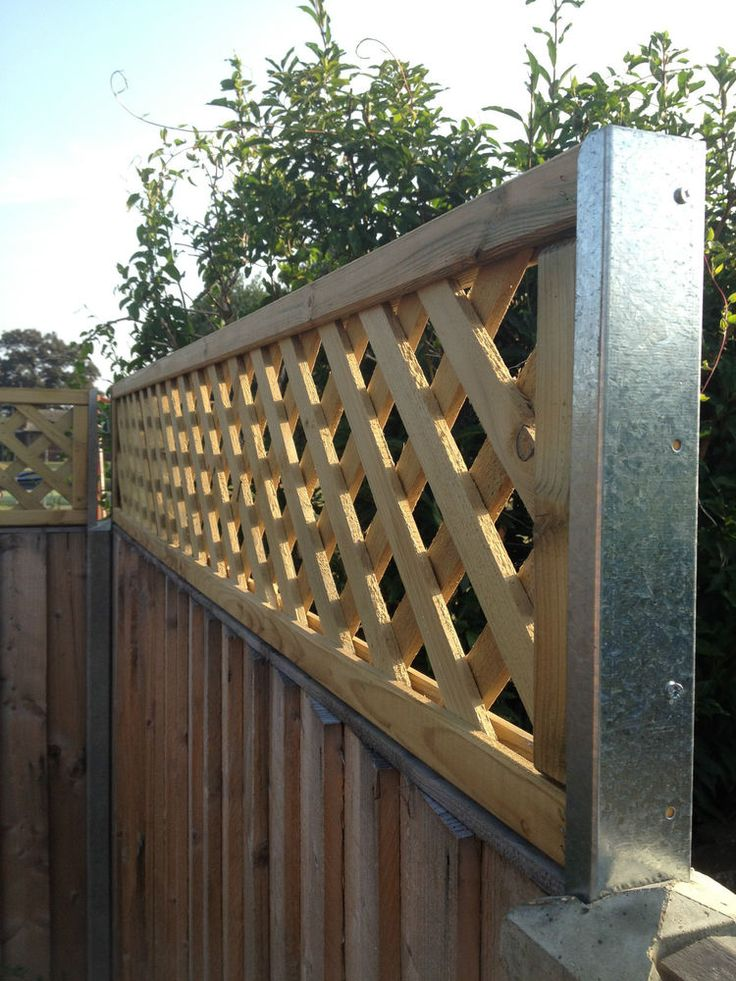 Concrete Fence Post Extensions Extenders Trellis Panel Screws Included In Garden Amp Patio