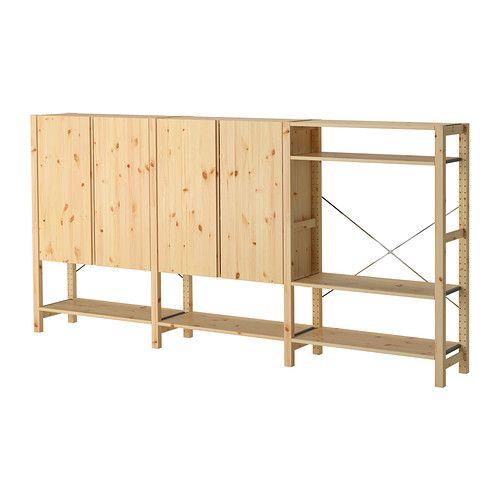 IVAR 3 Elem/Böden/Schrank IKEA - hoher Fuß = leichter zum Staubsaugen & Wischen
