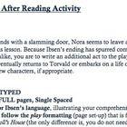 world literature assignment rubric