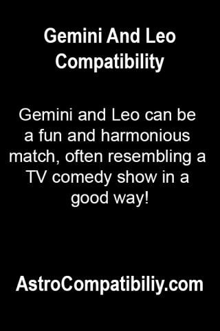 Gemini and Leo can be...   AstroCompatibility.com