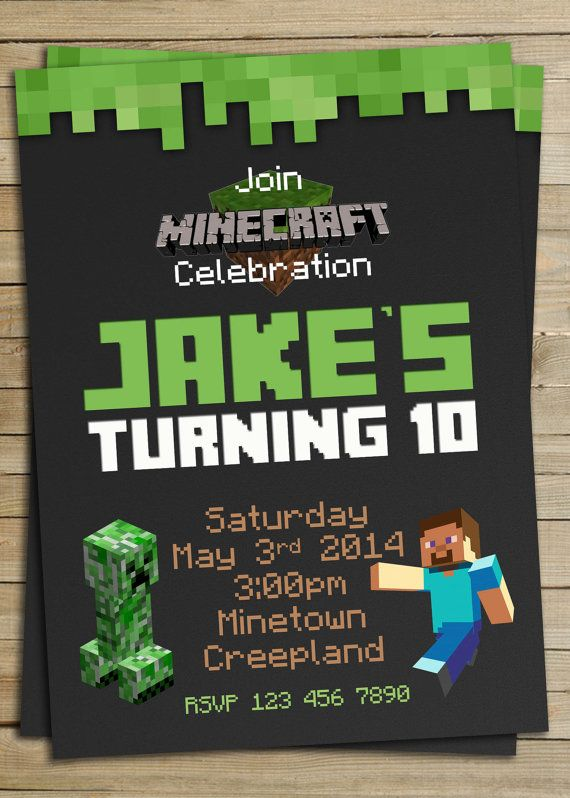 115 Best Minecraft Party Images On Pinterest Minecraft Party