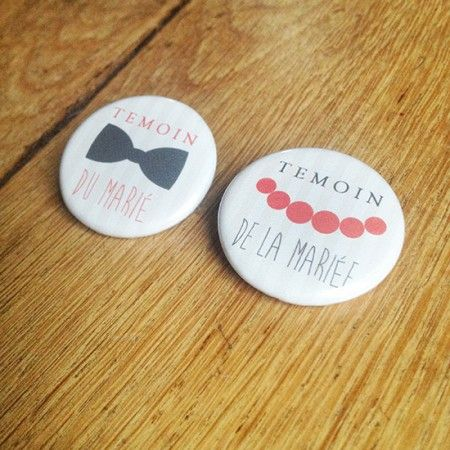 Badge Super Temoins boy n girl | Sweet Paper