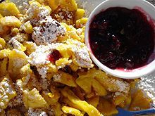 Kaiserschmarrn with mountain cranberry sauce - Austria
