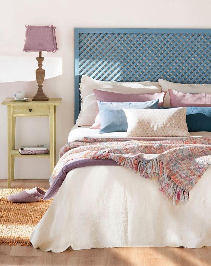 Une Chambre à Coucher Du0027ambiance Douce Et Féminine Aux Tons Pastels, Idée  Originale