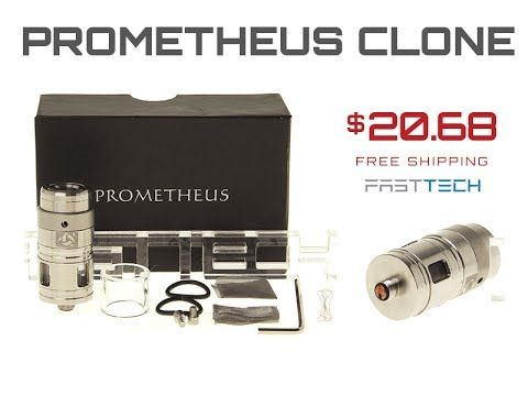 Prometheus Style Glass Tank Rebuildable Atomizer Kit (3.0mL) Quick First Look