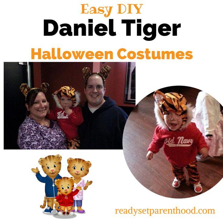 Easy DIY Daniel Tiger Halloween Costume #Halloween #DanielTiger