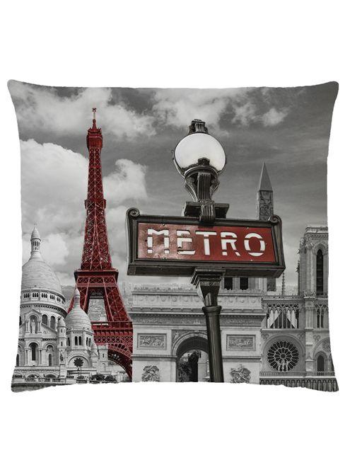 Paris Metro Filled Cushion