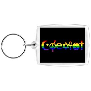 Coexist Rainbow Keychain - LGBT Gay and Lesbian Pride - Rainbow Accessories and Gifts - https://tamfitronics.com/shopfinish/coexist-rainbow-keychain-lgbt-gay-and-lesbian-pride-rainbow-accessories-and-gifts/