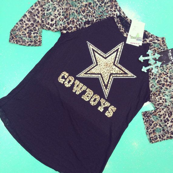 Hey, I found this really awesome Etsy listing at https://www.etsy.com/listing/217882107/cheetah-dallas-cowboys-raglan