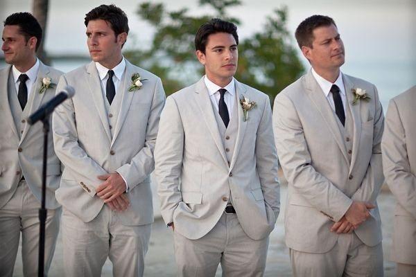 Latest Coat Pant Designs Light Grey Formal Wedding Suits For Men ...