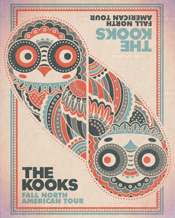 Created by NateWidick for the contest to design a poster for The Kooks' N. American tour