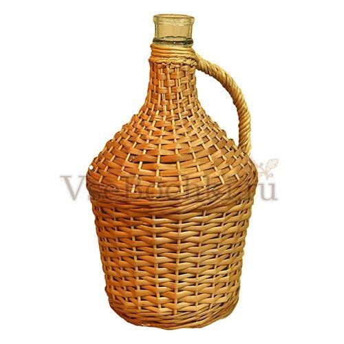 Бутыль 3 л оплетенная лозой