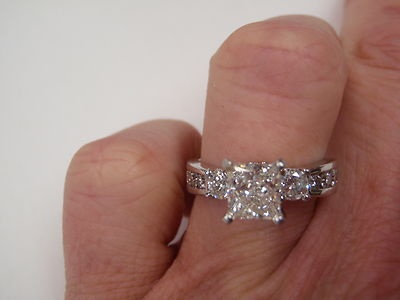 2.25 CTW LEO DIAMOND PRINCESS ENGAGEMENT RING SET 18K SETTING 9000.00