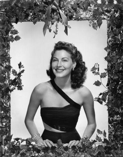 Vintage Hollywood Christmas - Ava Gardner