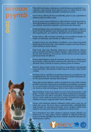 Hevosen hoito ja käsittely! http://www.hevoseni.fi/hyvinvointi