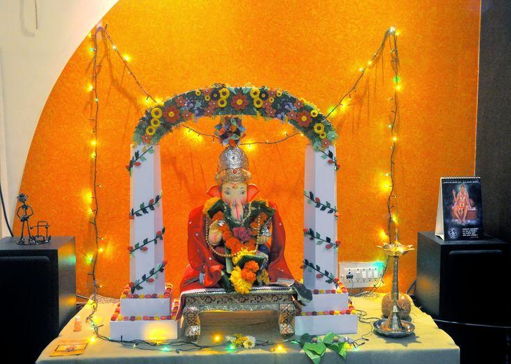 quilling eco friendly ganapati decoration