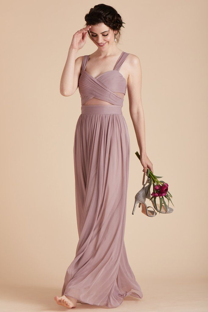 1a6771ec694 Birdy Grey Bridesmaid Dress Under  100 - Elsye Dress in Mauve - Flattering  Bias-Cut