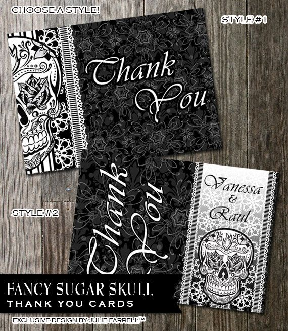 Printable Thank You Card Template DIY Black And by OddLotEmporium, $10.00