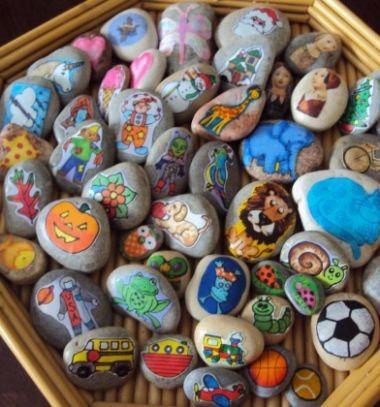 DIY story telling stones // Mesélő kövek - mesemondó játék // Mindy - craft tutorial collection