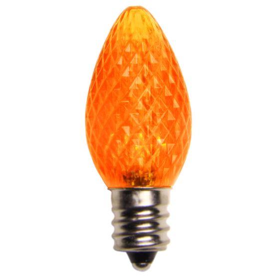 C7 Amber / Orange LED Christmas Light Bulbs