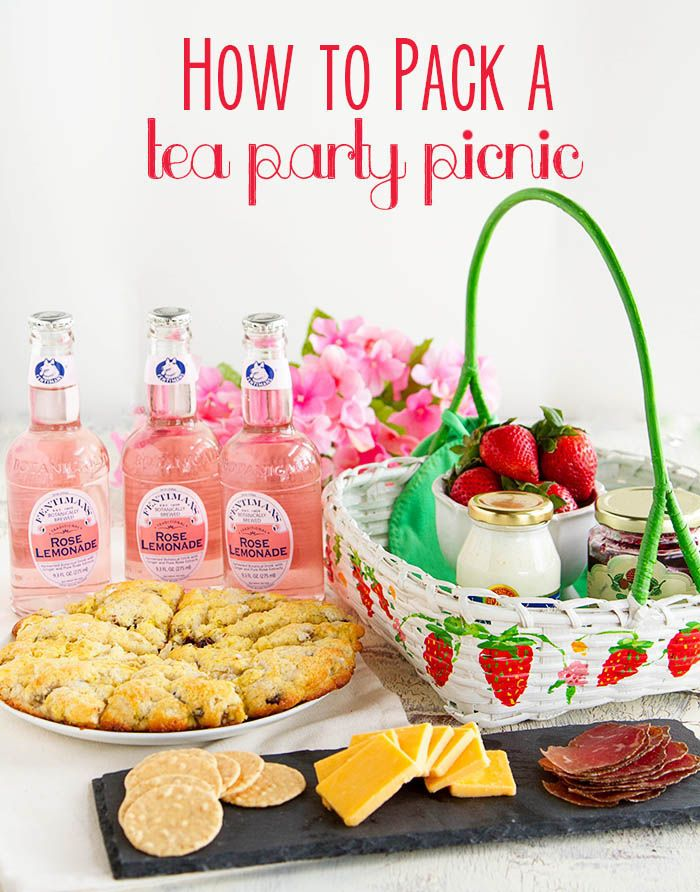 How to Pack a Tea Party Picnic with @Tillamook Cheese via @fujimama