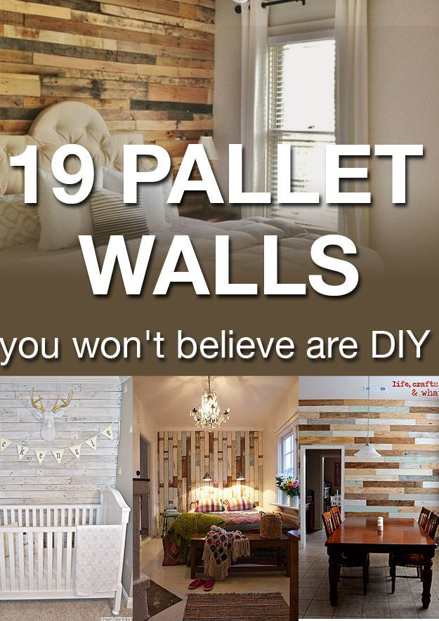 """I DREAM of pallet walls in my home but I never knew how I could use them without it looking too """"country"""" and less """"chic."""" After looking at these pins, I know exactly what I'm going to do!"""