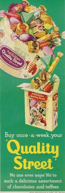 Vintage Ads - Quality Street, 1959 - this makes my mouth water; I remember these!